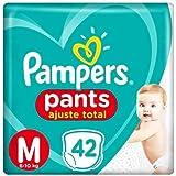 Fralda Infantil Pampers Pants Ajuste Total, Com 42 Fraldas Descartáveis, Tamanho M, PAMPERS PANTS