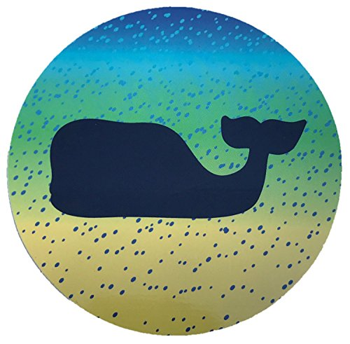 Vineyard Vines Whale Dot Multicolored Vinyl Sticker Decal, 3.5 X 3.5-Inches