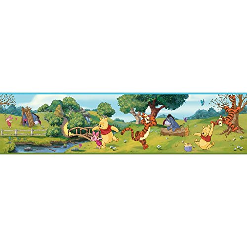 York Wallcoverings DS7765BD Walt Disney Kids II Swinging Pooh Border, Primary Multicolor (Pooh Border)
