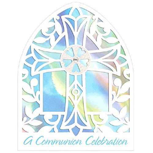 Novelty Blue Communion Invitations 8ct