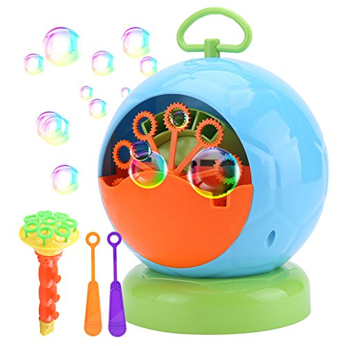 Machine Minimum (JCSHHUB Bubble Machine Automatic Bubble Maker Portable Blower Use for Party, Barbecue, Match, Wedding Gift for Kids & Adult with 4 AA Battery (Not Include))