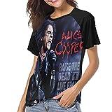 Alice Cooper Raise The Dead Sports Music Theme Women's Fashion Print T-Shirt M Black
