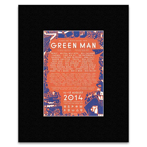 GREEN MAN - 2014 - Beirut First Aid Kit Neko Case Matted Mini Poster - 28.5x21cm (Neutral Milk Hotel Poster compare prices)