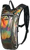 REINOS Hydration Backpack - Light Water Pack - 2L Water Bladder Included for Running, Hiking, Biking, Festivals, Raves (Gunmetal)