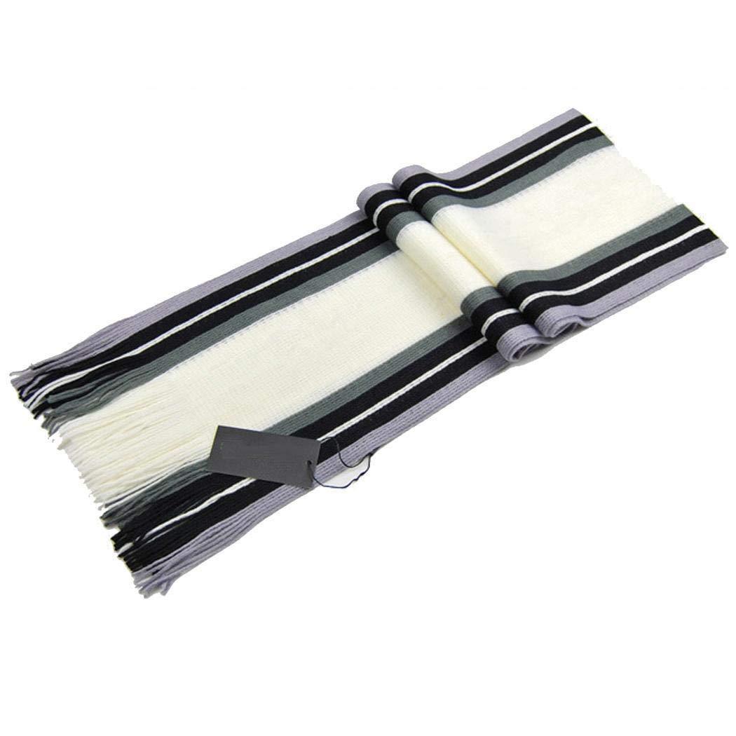 Kikole Men's Classic Cashmere Shawl Scarves Winter Warm Long Fringe Striped Tassel Scarf Wraps