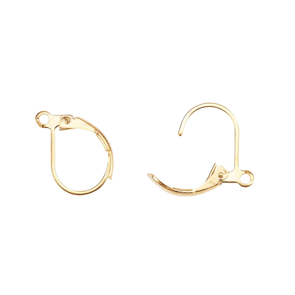 Pandahall Elite 50 Pcs 304 Stainless Steel Earring Hooks Components for Jewelry Making Findings 20x19x3mm
