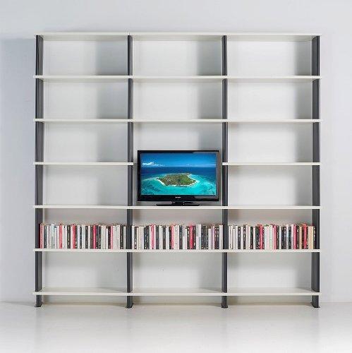 estantera de pared modular nikka para saln mueble para tv estantes blanco cm x h x amazones hogar