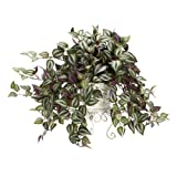 Nearly Natural 6697 Wandering Jew with Metal Planter Decorative Silk Plant, Green