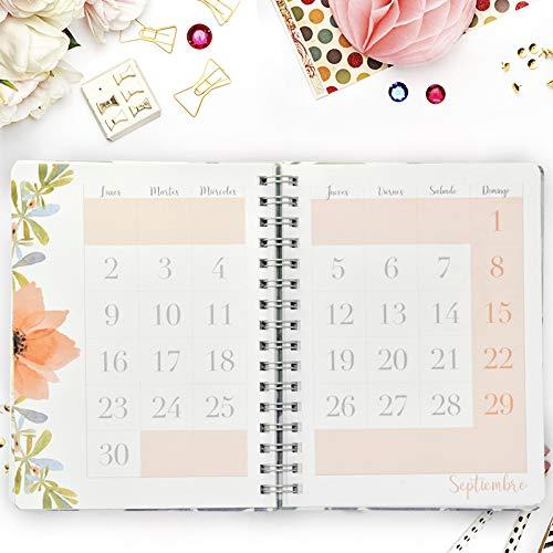 Agenda De Tela 2019 - Takenote Spring- Encuadernación Wire-o - Semana Vista - Tamaño 16,5x21,5