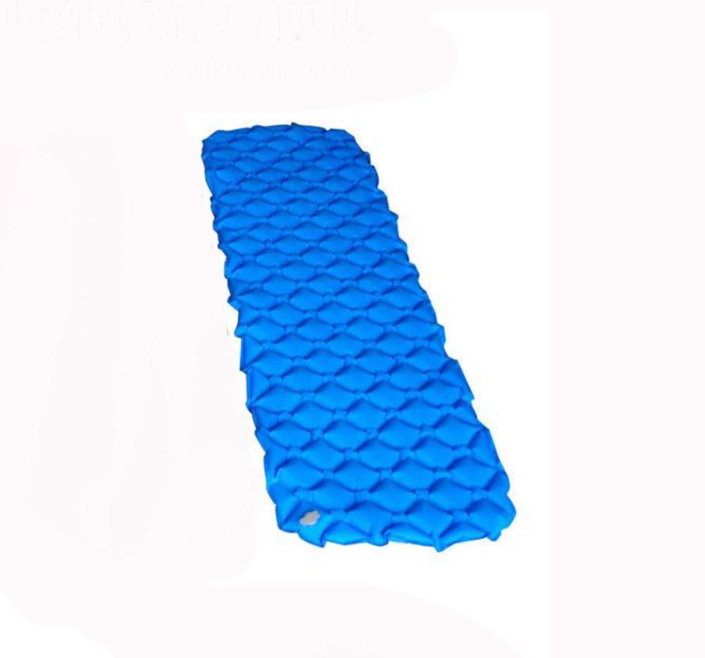 SYT Blankets Campingzelt Ultraleicht im Freien aufblasbares Kissen Feuchtigkeit-Beweis-Pad Einzigen automatischen aufblasbaren Kissen Camping, Blau