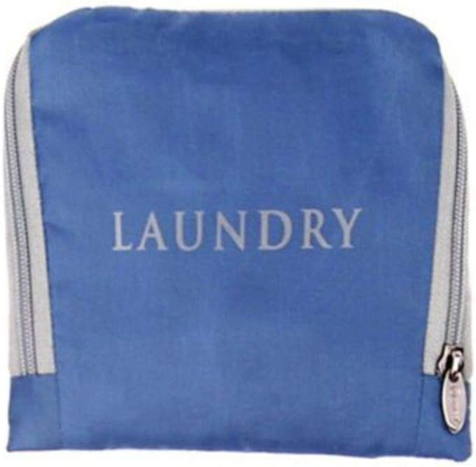 MIAMICA Travel Laundry Bag, Grey and Blue