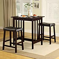 Dining Table Set Counter Height 3 Piece Nova Espresso Wood. Dining Room Sets Are a Must and This Is on Sale. This Dining Set Would Show Beautifully and Would Make a Great Decorative Display in Your Home. Counter Height Dining Sets Are Amazing