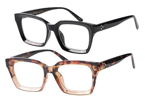 2694c78bd7e SOOLALA 2-Pair Vintage Stylish 53mm Lens Oversized Reading Glass Big Eyeglass  Frame
