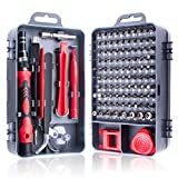 Miuzei 115 in 1 Precision Screwdriver Set, Magnetic Impact Driver Bits Kit, Professional Electronics Repair Tool Kit for Computer Repair Tool Kit for iPhone, Macbook, Computer, PC, Nintendo, Laptop and more