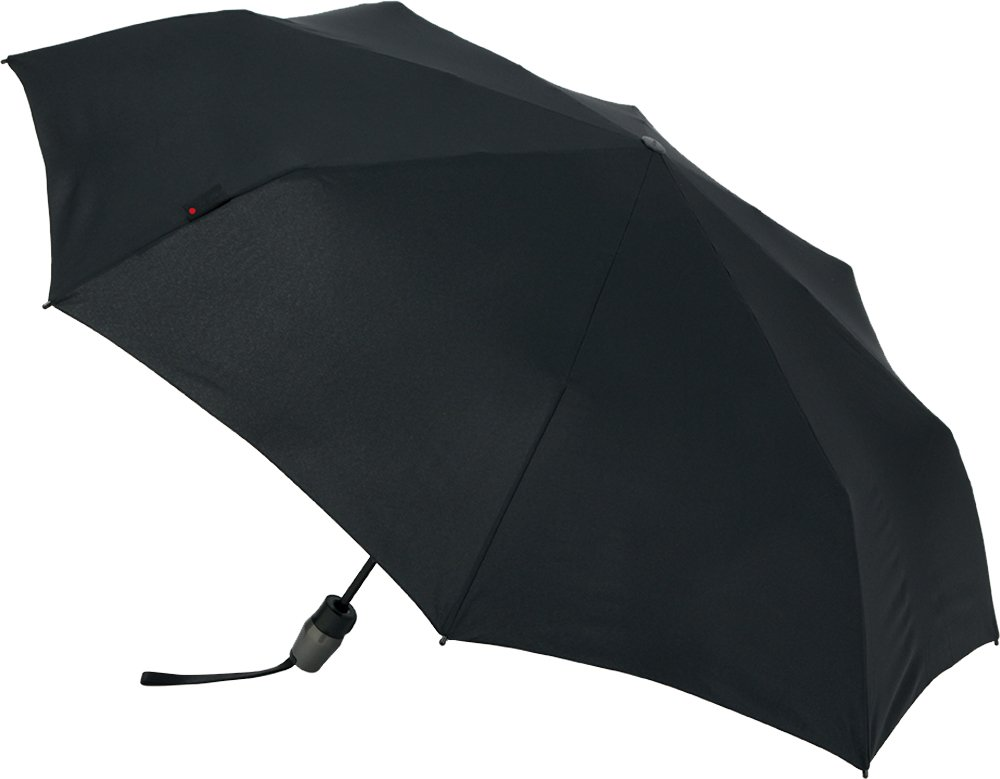 Knirps 折りたたみ傘 ワンタッチ自動開閉 耐久性強化 【正規輸入品】 T.220 MediumDuomaticSafety Black KNT220-1000 B076RGRNV5 Black Black