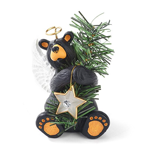 Big Sky Carvers Angel Bear Tree Topper (Angel Bear Figurine)