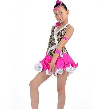 Byjia Kinder \'S Einteilige Ärmellos Kleider Mädchen Latin Dance ...