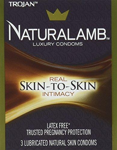 Trojan Naturalamb (3 Lubricated Natural Skin (Trojan Naturalamb Lubricated Condoms)