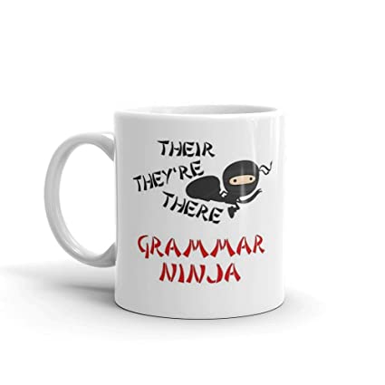 Amazon.com: Funny Grammar Ninja Punctuation Their Theyre ...