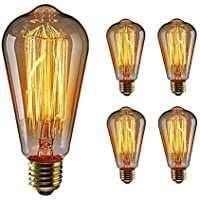 Edison E27 bombillas, ST64 60 W y 220