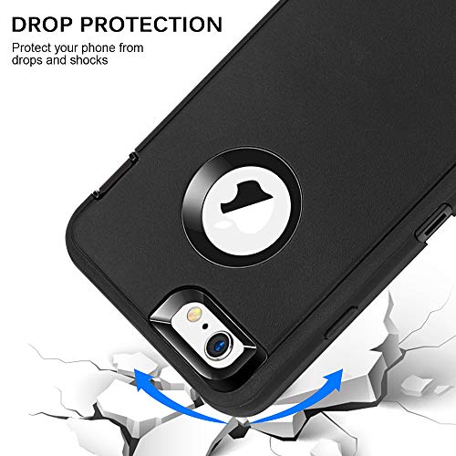 "iPhone 6 Plus/6S Plus Case, Maxcury Heavy Duty Shockproof Series Case for iPhone 6 Plus /6S Plus (5.5"") with Built-in Screen Protector Compatible with All US Carriers (Black)"