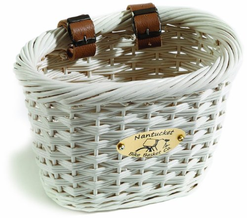 Nantucket Bike Basket Co Cliff Road Collection Oval Child Bike Basket (White) -  Nantucket Bike Baskets, Y/001/C