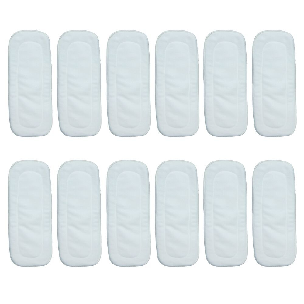 Babyfriend 5 Layers Reusable Charcoal Bamboo Inserts Breathable Liners for Baby Cloth Diapers 12 Packs, White Gonghao Textile Co. Ltd