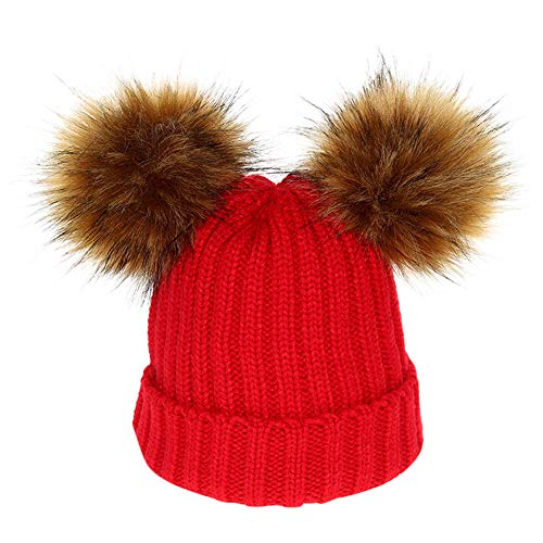 - Putars Detachable Copper Button Chunky Baggy Hat Cable Knitted Caps