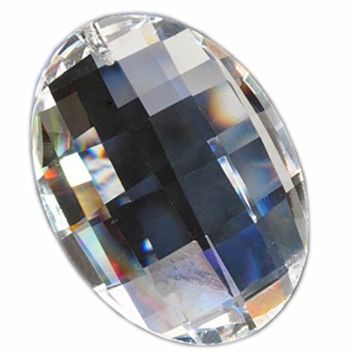 hierkryst 2 Inch Clear Chandelier Crystal Prisms Pendants, Pack of 5 (Canada Clear Ornaments)