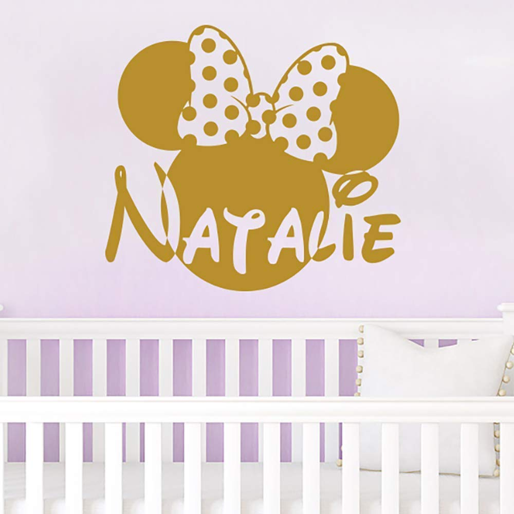 Amazon Com Wall Name Decal Minnie Mouse Head Bow Vinyl Decals