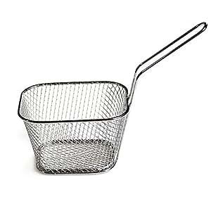 Acero inoxidable Mini cesta Fry Chips de patata patatas fritas cesta de la freidora cuadrada malla de alambre colador de cocina: Amazon.es: Hogar