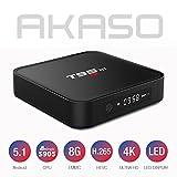 AKASO T95M Android TV Box 4K Kodi Fully Loaded Amlogic S905 Quad Core 1GB RAM 8GB Flash, 3D HDMI With LED Display Google Streaming Media Box WiFi DLNA