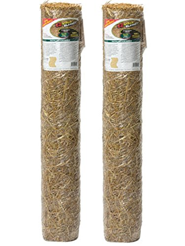 EZ Straw 4ft. x 50ft. Grass Seed Germination and Erosion Control Blanket (Pack of 2) Made in (Erosion Control Seeds)