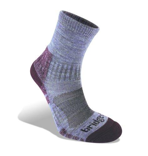 Bridgedale Women's Trail Light Socks, Heather Damson, Medium