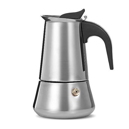 Espresso Maker - Cafetera de acero inoxidable para espresso de ...