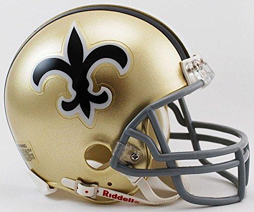 Riddell NFL New Orleans Saints 1967-1975 Throwback Replica Vsr4 Mini Football Helmet 1969 Riddell Mini Replica