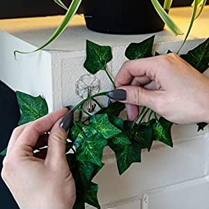 Hanging Fake Greenery Plants for Decoration: Artificial Ivy Plant Wall Decorations for Fairy Party, Wedding Backdrop - 78 Feet of Faux Ivy Garland Vine / Leaves with 5 Hooks - 6.5 Foot Vines, 12 Pack 9
