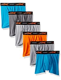Big Boys' X-Temp Performance Cool Dyed Boxer Brief 6-Pack
