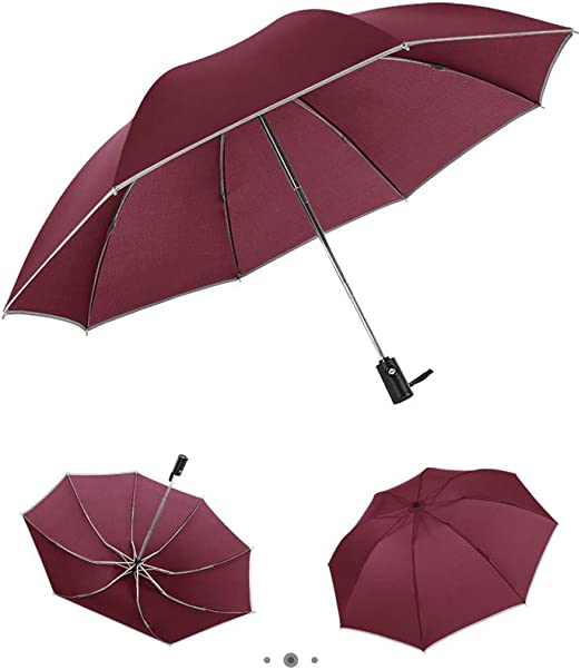 Folding Umbrella Rainproof /& Windprrof Umbrella Darkness Custom Umbrella Automatic