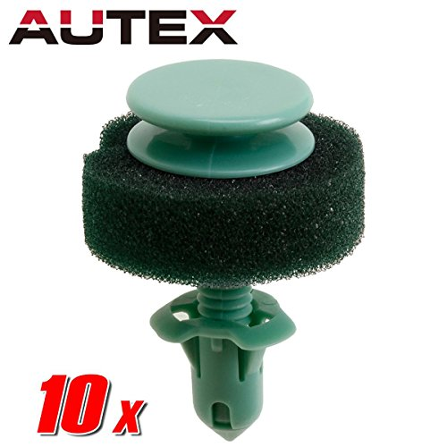 (AUTEX 10pcs Fender Liner Fastener Rivet Push Clips Retainer Nut Replacement for Cadillac/GMC/Hummer/Oldsmobile/Pontiac)