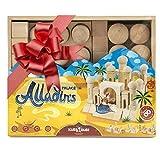 Kids Educational Wood Building Blocks - Natural Toddler Toys Wooden Sets Kits For...