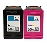 OCProducts Refilled HP 60XL Ink Cartridge Replacement for HP Envy 120 114 Deskjet F4480 F4210 D1660 F4400 Printers (1 Black 1 Color)