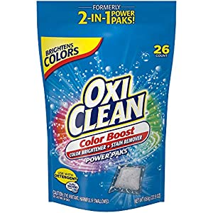 Best Epic Trends 513MfJmgApL._SS300_ OxiClean Color Boost Color Brightener plus Stain Remover Power Paks, 26 Count