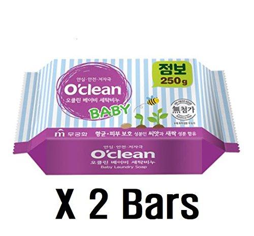 3a2469fb6 O Clean Korean Premium Baby Laundry Detergent Bar Soap 2PC SET 17.6 ...