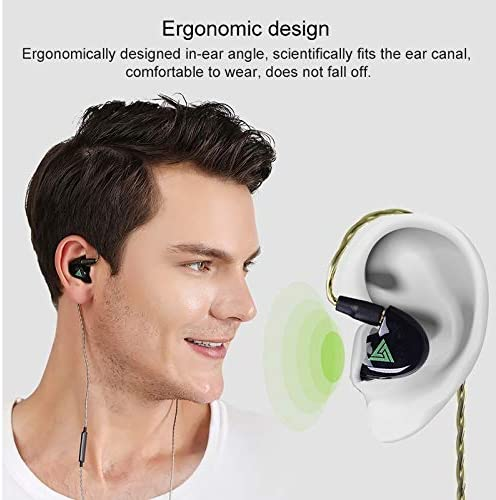 JUDY For Electronics WGJ KD11 Moving Iron Headphones Shure Plug Design Four Unit Music Headphones, Support for Changing Lines Microphone Version