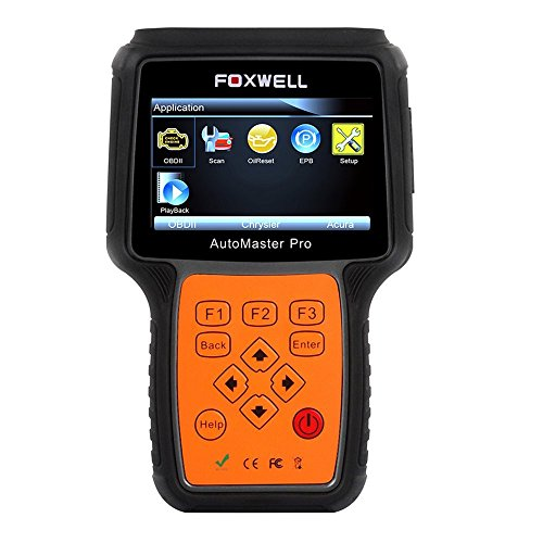 Full System OBD2 Scanner Foxwell NT624 Obdii Diagnose Engine/ ABS/ Airbag/ Transmisson/ EPB/ Oil Service Universal Diagnostic Tool Error Code Reader (Mitsubishi Code Radio)