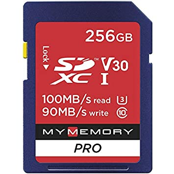 MyMemory - Tarjeta SD de 256 GB V30 Pro (SDXC) UHS-1 U3 ...