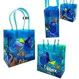 "2016 Disney Finding Dory & Nemo Kids 6"" Party Gift Bag- 12 Pcs"