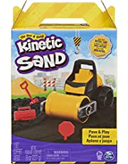 Kinetic Sand, Pave & Play Construction Set with Toy Truck and 8oz Black Play Sand, Sensory Toys for Kids Ages 3 and up