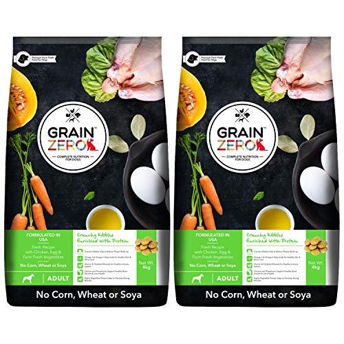 Grain Zero Adult Dry Dog Food, 4 kg (Buy 1 Get 1 Free)